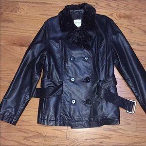 Black Pleather Jacket XL